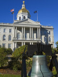 Liberty Bell at the State Capitol, Concord, New Hampshire, New England, USA Photographic Print by Richard Cummins