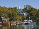 Yachts Moored in Rockport Harbour, Maine, United States of America, North America Photographic Print by Neale Clarke