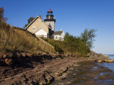 Thirty Mile Lighthouse, Golden Hill State Park, Lake Ontario, New York State, USA Photographic Print by Richard Cummins