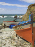 Traditional Portuguese Fishing Boats in a Small Coastal Harbour, Beja District, Portugal Photographic Print by Neale Clarke