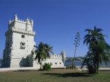 Exterior of Torre De Belem, UNESCO World Heritage Site, Belem, Lisbon, Portugal Photographic Print by Neale Clarke