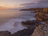 Sunset and Incoming Tide Taken with a Slow Shutter Speed, Mellon Charles, Wester Ross, Scotland, UK Photographic Print by Neale Clarke