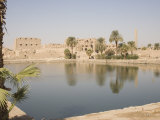Sacred Lake, Temples of Karnak, Karnak, Near Luxor, Thebes, UNESCO World Heritage Site, Egypt Photographic Print by Philip Craven