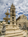 Orione Fountain, Clock Tower and Duomo, Messina, Sicily, Italy, Europe Photographic Print by Richard Cummins