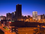 Oklahoma City Skyline Viewed from Bricktown District, Oklahoma, USA Photographic Print by Richard Cummins