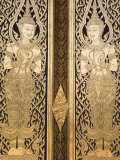Door at Wat Pho Temple, Rattanakosin District, Bangkok, Thailand, Southeast Asia Photographic Print by Richard Cummins