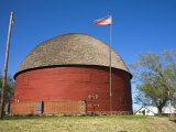 Historic Round Barn on Route 66, Arcadia, Oklahoma, United States of America, North America Photographic Print by Richard Cummins