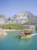 Tourist Boat, Green Canyon, Oymapinar Lake, Manavgat, Antalya Region, Anatolia, Turkey Minor Photographic Print by Philip Craven