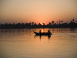 Fishing Boat, Sunset, River Nile, Egypt, North Africa, Africa Photographic Print by Philip Craven