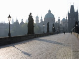 Statues on Charles Bridge, Old Town, Prague, Czech Republic Photographic Print by Martin Child