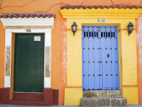 Doors in Old Walled City District, Cartagena City, Bolivar State, Colombia, South America Photographic Print by Richard Cummins