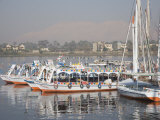 Tourist Boats, Luxor, Egypt, North Africa, Africa Photographic Print by Philip Craven