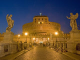 St. Angelo Castle and St. Angelo Bridge, Rome, Lazio, Italy Photographic Print by Marco Cristofori
