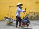 Street Vendor, Nha Trang City, Vietnam, Indochina, Southeast Asia Photographic Print by Richard Cummins