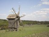 Windmill, Pirogov Village, Near Kiev, UKraine, Europe Photographic Print by Philip Craven