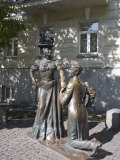 Pronya Prokopovna and Svirid Golohvastov Statue, Andeyevsky Spusk, Kiev, UKraine Photographic Print by Philip Craven