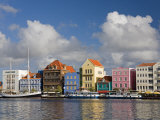 Stores on Handelskade, Punda District, Willemstad, Curacao, Netherlands Antilles, West Indies Photographic Print by Richard Cummins