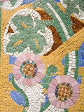 Tile Mosaic on Palau De La Musica, La Ribera District, City of Barcelona, Catalonia, Spain, Europe Photographic Print by Richard Cummins
