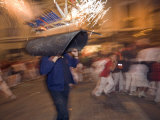 Fireworks Bull for Children, San Fermin Festival, Pamplona, Navarra, Spain, Europe Photographic Print by Marco Cristofori
