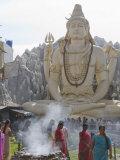 Shiva Mandir Temple, Bengaluru, Karnataka State, India Photographic Print by Marco Cristofori