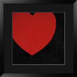 Heart, c.1979 (Red on Black) Posters by Andy Warhol