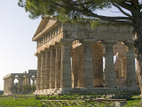 Temple of Poseidon,Temple of Hera Beyond, Paestum, Campania, Italy Photographic Print by Marco Cristofori