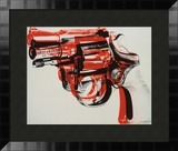 Gun, c.1981-82 (black and red on white) Prints by Andy Warhol