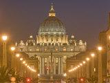 St. Peter's Basilica and Conciliazione Street, Rome, Lazio, Italy, Europe Photographic Print by Marco Cristofori