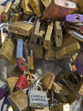 Love Security Locks, Sant'Oronzo Square, Lecce, Lecce Province, Puglia, Italy, Europe Photographic Print by Marco Cristofori