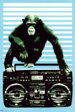 Steez - Monkey Boom Box Print