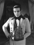 The Eagle, Rudolph Valentino, On-Set with His Arm in a Sling after an Automobile Accident, 1925 Photo