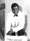 The Mark of the Hawk, Sidney Poitier at Elstree Studios, UK, January 1957 Photo