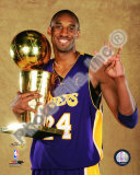 Kobe Bryant Game Five of the 2009 NBA Finals With Championship Trophy Photo