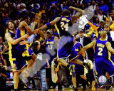 NBA The Los Angeles Lakers celebrate Game Five of the 2009 NBA Finals Photo