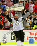 Jordan Staal Game 7 - 2008-09 NHL Stanley Cup Finals With Trophy Photo