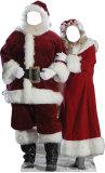 Silhouette découpée trompe-l'œil - Père et Mère Noël Silhouette en carton