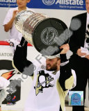 Sergei Gonchar Game 7 - 2008-09 NHL Stanley Cup Finals With Trophy Photo