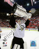 Marc-Andre Fleury Game 7 - 2008-09 NHL Stanley Cup Finals With Trophy Photo