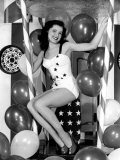 Debra Paget, Age 16, Strikes a Patriotic Pose, 1949 Plakater