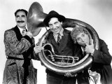 A Day at the Races, Groucho Marx, Chico Marx, Harpo Marx, 1937 Photo