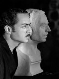 William Powell with Plaster Bust to Be Used in Behind the Makeup, 1930 Photo