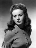 Jeanne Crain Cardigan Sweater with Hand Painted Buttons, 1944 Poster