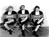Marx Brothers - Harpo Marx, Groucho Marx, Chico Marx on the Set of Night at the Opera, 1935 Photo