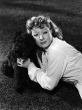 Greer Garson Posing with French Poodle, Coco, 1939 Print by Clarence Sinclair Bull