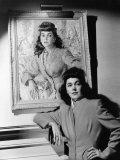 Maureen O'Sullivan Standing Beside Her Portrait, c.1941 Prints