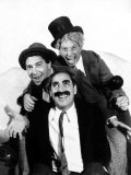 The Marx Brothers Pose for a Publicity Portrait During Production of a Night at the Opera, 1935 Poster