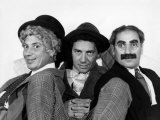 The Marx Brothers, Harpo Marx, Chico Marx, Groucho Marx, Late 1930s Photo