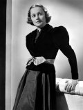 Olivia De Havilland in Black Velvet Jacket, 1937 Print