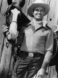 Champion and Gene Autry as They Appeared in Blue Canadian Rockies, 1952 Photo