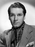 Portrait of Laurence Olivier, with Ascot Poster